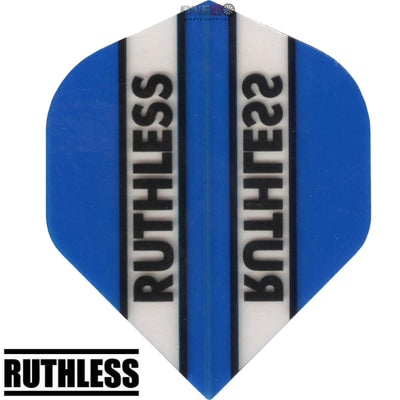 Dart Flights - Ruthless - Clear Panels - Big Wing Dart Flights Light Blue