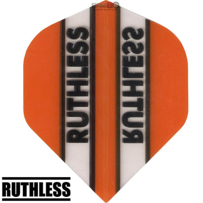RUTHLESS Darts - Flights - Clear Panels Big Wing Flights - Orange