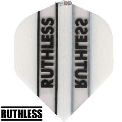Dart Flights - Ruthless - Clear Panels - Big Wing Dart Flights White