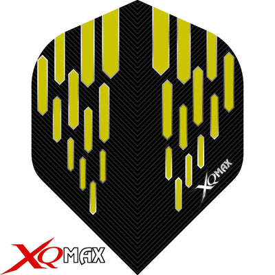 Dart Flights - XQMax - Contour - Big Wing Dart Flights Yellow