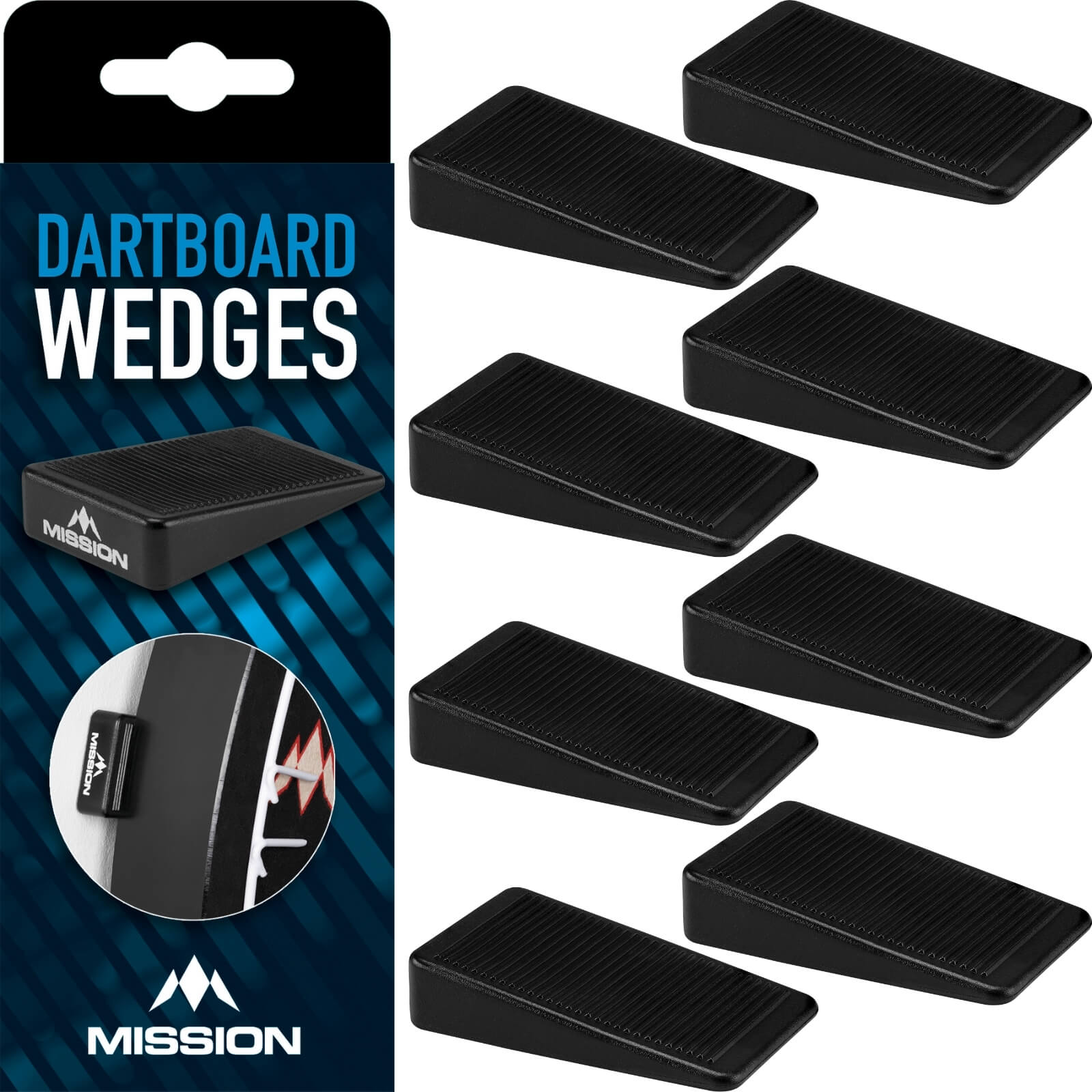 Dartboard Accessories - Mission - Dartboard Wedges - 8 Pack