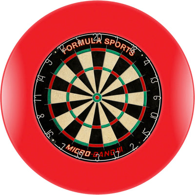 Dartboards - Formula Sports - Micro-Band III Dartboard & Surround Package Red