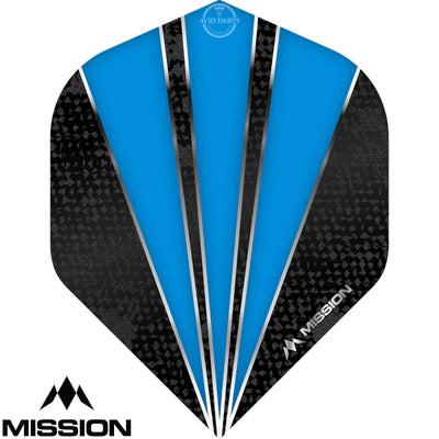 Dart Flights - Mission - Flare - Big Wing Dart Flights Aqua