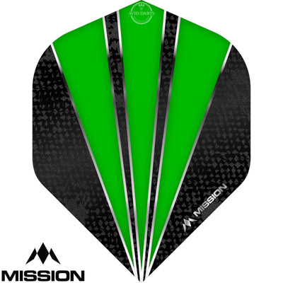 Dart Flights - Mission - Flare - Big Wing Dart Flights Green