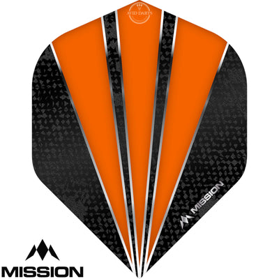 Dart Flights - Mission - Flare - Big Wing Dart Flights Orange