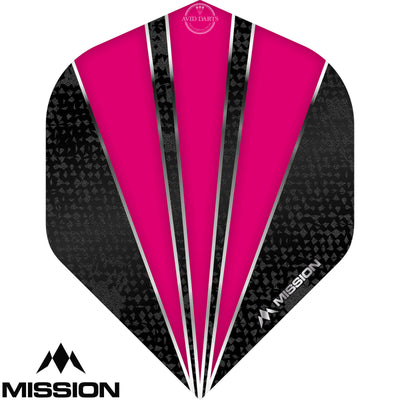 Dart Flights - Mission - Flare - Big Wing Dart Flights Pink