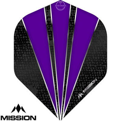 Dart Flights - Mission - Flare - Big Wing Dart Flights Purple