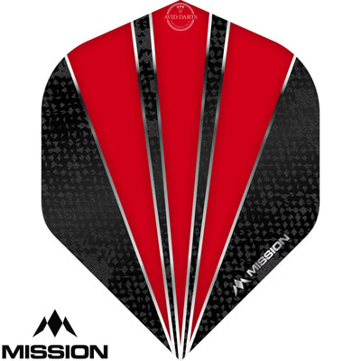 Dart Flights - Mission - Flare - Big Wing Dart Flights Red