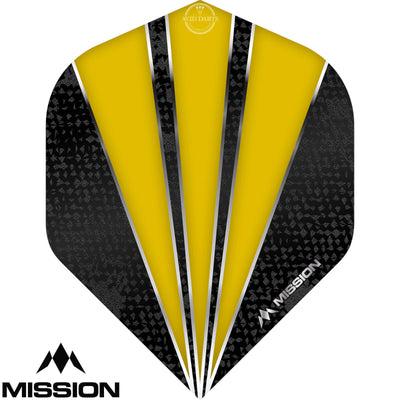 Dart Flights - Mission - Flare - Big Wing Dart Flights Yellow