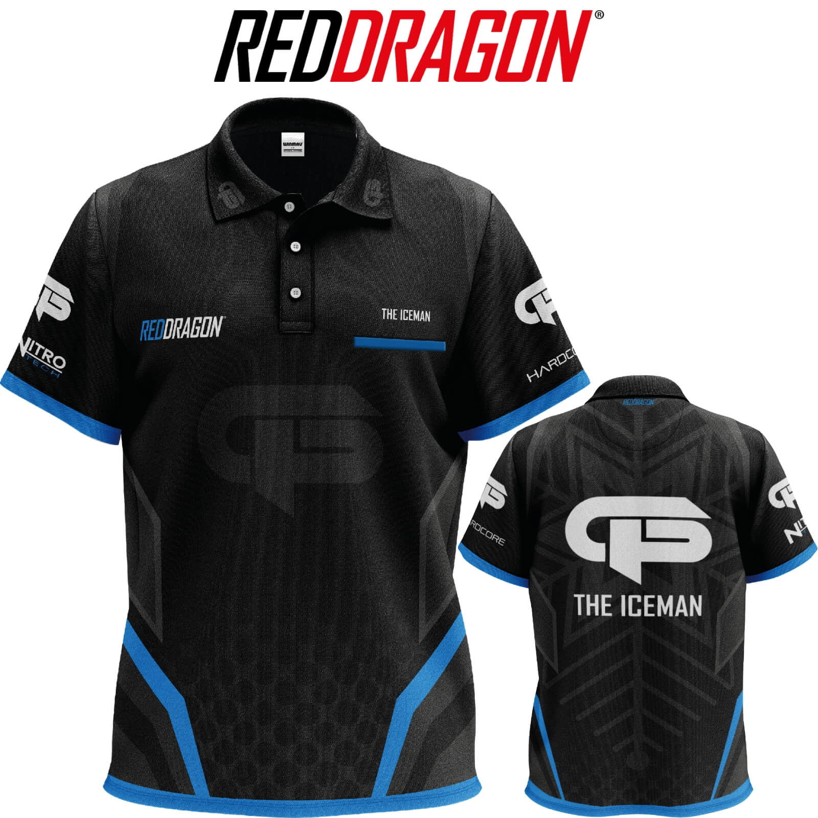 Dart Shirts - Red Dragon - Gerwyn Price Tour Dart Shirts - S to 3XL