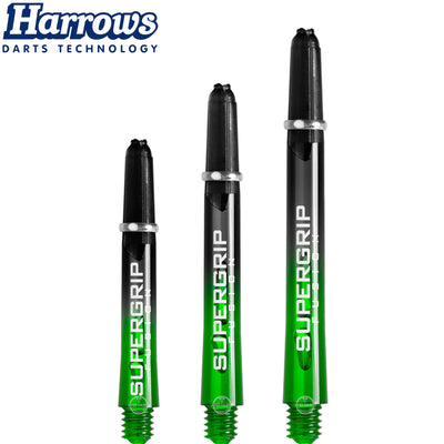HARROWS Darts - Shafts - Supergrip Fusion-X Shafts - Short (35mm) / Green