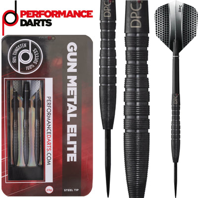 Darts - Performance Darts - Gun Metal Elite - Steel Tip - 90% Tungsten - 23g 25g