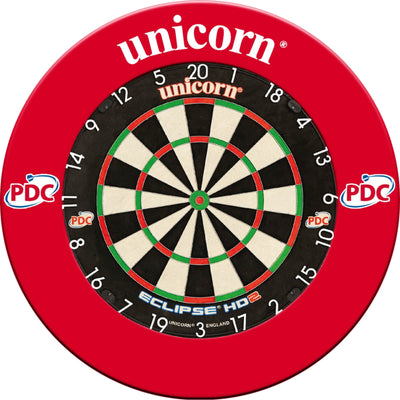 Dartboards - Unicorn - Eclipse HD2 Pro Edition Dartboard & Surround Package Red