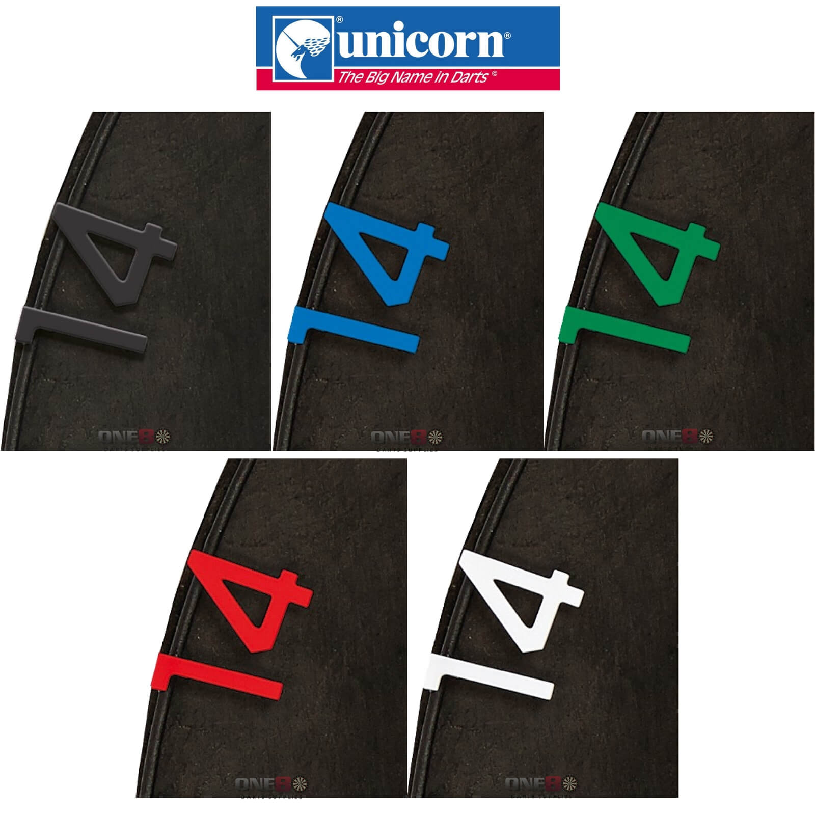 Dartboard Accessories - Unicorn - Eclipse HD2 Dartboard Spare Number Set - 1 to 20