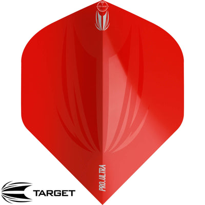 Dart Flights - Target - ID Pro Ultra - Big Wing Dart Flights Red