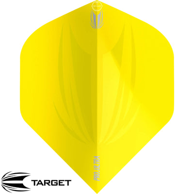Dart Flights - Target - ID Pro Ultra - Big Wing Dart Flights Yellow