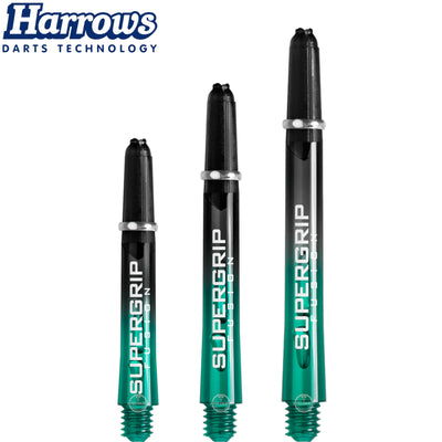 HARROWS Darts - Shafts - Supergrip Fusion-X Shafts - Short (35mm) / Jade