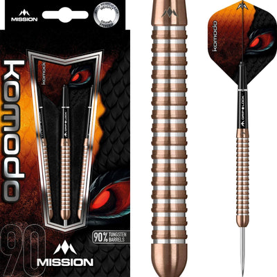 Darts - Mission - Komodo RX M3 Darts - Steel Tip - 90% Tungsten - 21g 23g 25g