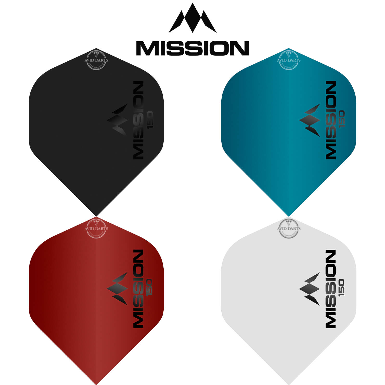 Dart Flights - Mission - Logo 150 - Big Wing Dart Flights