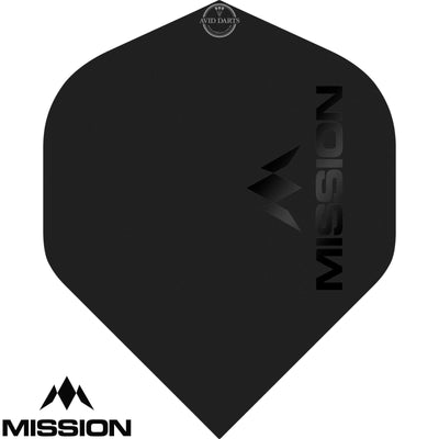 Dart Flights - Mission - Logo Matt - Big Wing Dart Flights Black