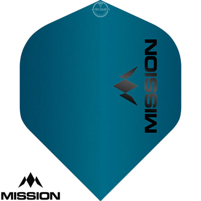 Dart Flights - Mission - Logo Matt - Big Wing Dart Flights Blue