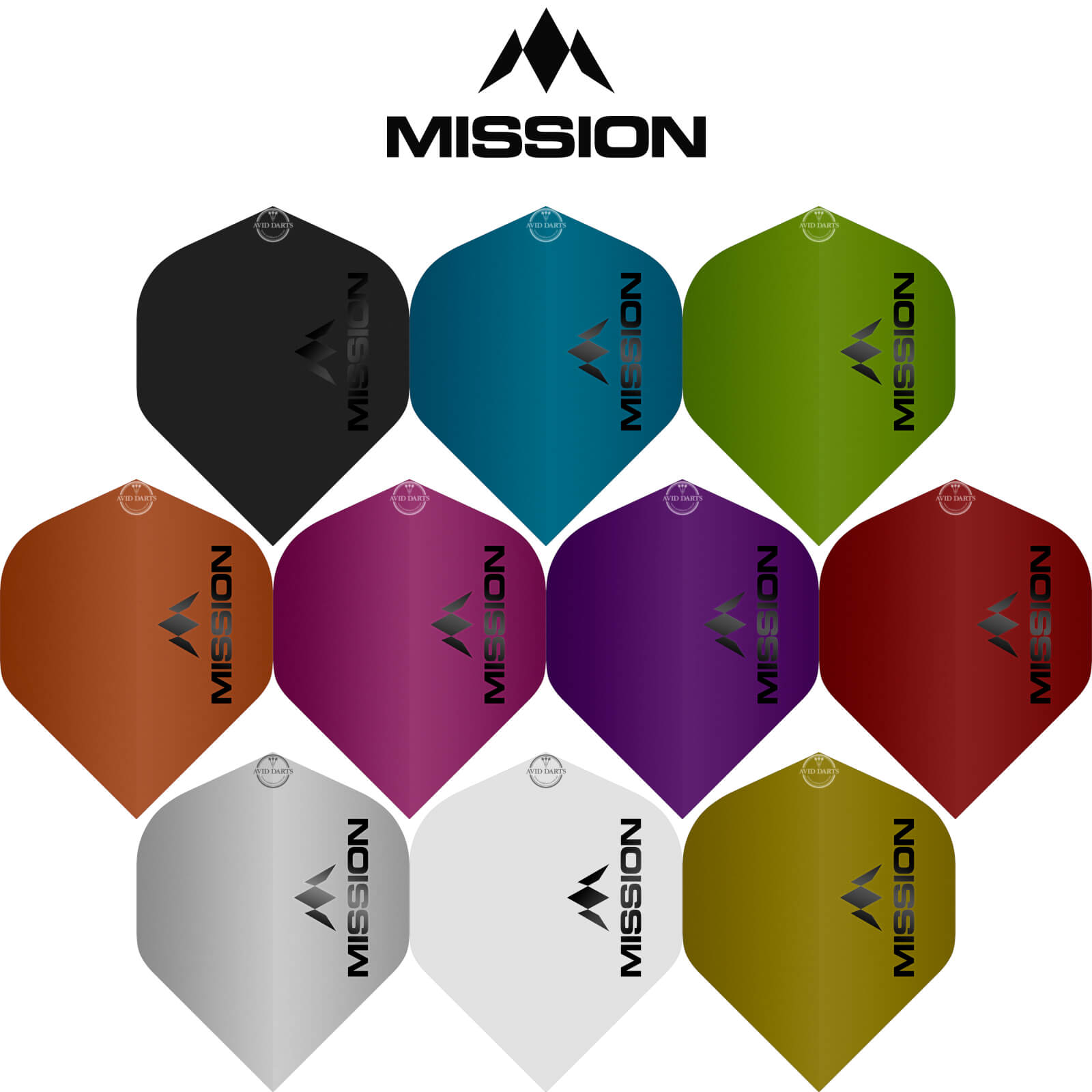 Dart Flights - Mission - Logo Matt - Big Wing Dart Flights
