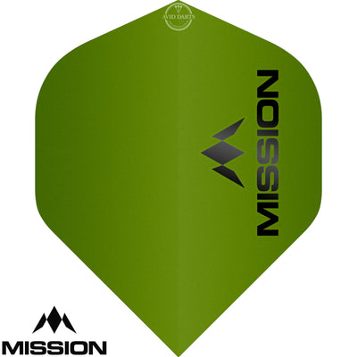 Dart Flights - Mission - Logo Matt - Big Wing Dart Flights Green