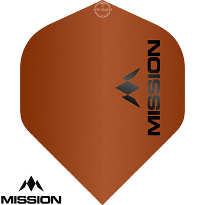 Dart Flights - Mission - Logo Matt - Big Wing Dart Flights Orange