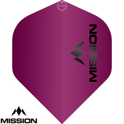 Dart Flights - Mission - Logo Matt - Big Wing Dart Flights Pink