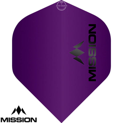 Dart Flights - Mission - Logo Matt - Big Wing Dart Flights Purple