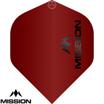 Dart Flights - Mission - Logo Matt - Big Wing Dart Flights Red