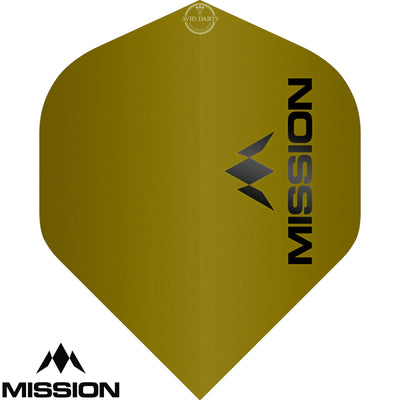 Dart Flights - Mission - Logo Matt - Big Wing Dart Flights Yellow