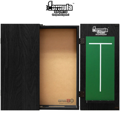 Dartboard Accessories - Formula Sports - Plain MDF Dartboard Cabinet - Black, Mahogany, Walnut Black