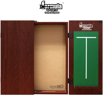 Dartboard Accessories - Formula Sports - Plain MDF Dartboard Cabinet - Black, Mahogany, Walnut Mahogany
