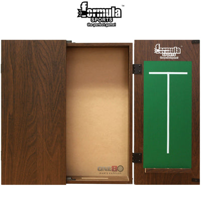 Dartboard Accessories - Formula Sports - Plain MDF Dartboard Cabinet - Black, Mahogany, Walnut Walnut
