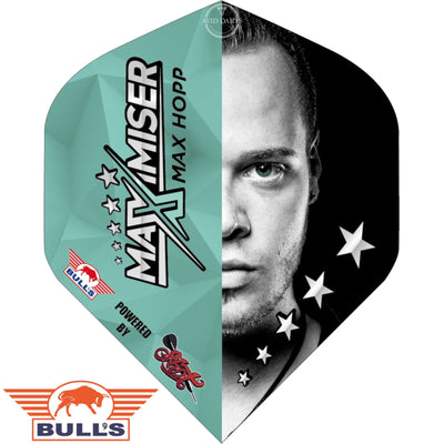 Dart Flights - Bulls - Max Hopp - Big Wing Dart Flights Half Face