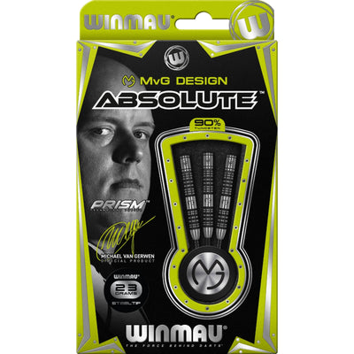 Darts - Winmau - MvG Absolute Darts - Steel Tip - 90% Tungsten - 22g 23g 24g