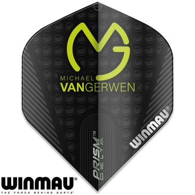 Dart Flights - Winmau - MvG Prism Delta - Big Wing Dart Flights Black
