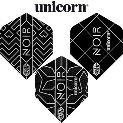 Dart Flights - Unicorn - Noir - Standard Dart Flights