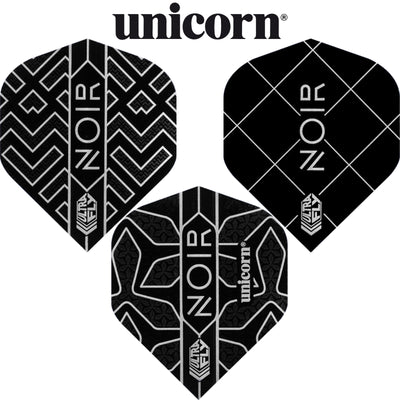 Dart Flights - Unicorn - Noir - Big Wing Dart Flights
