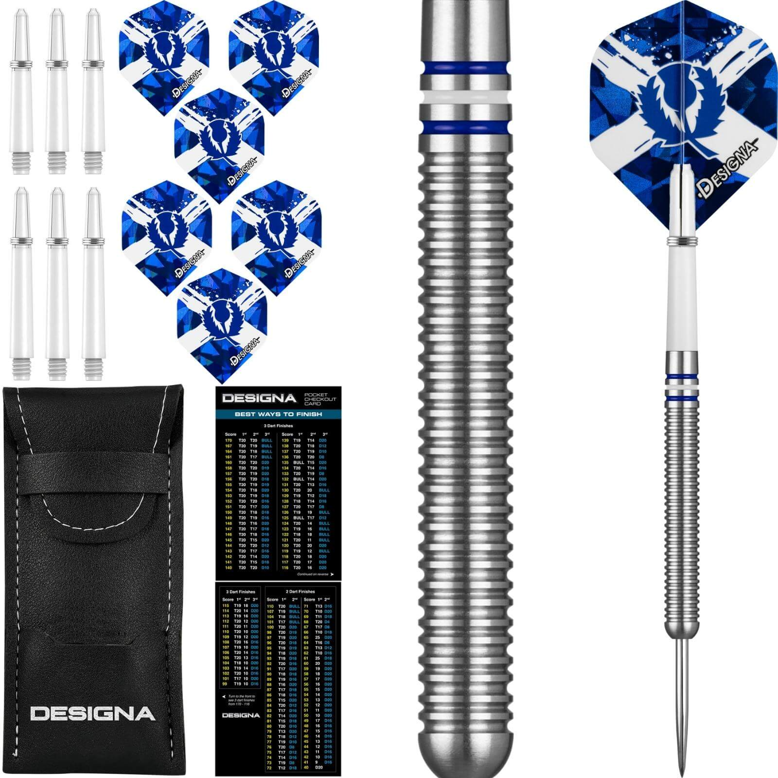 Darts - Designa - Patriot-X Darts - Scotland - Steel Tip - 90% Tungsten - 22g 24g