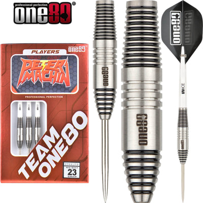 Darts - One80 - Peter Machin Darts - Steel Tip - 90% Tungsten - 23g