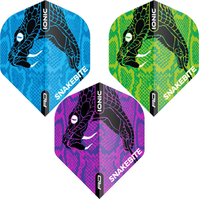 Dart Flights - Red Dragon - Ionic Peter Wright Snake Head - Standard Dart Flights