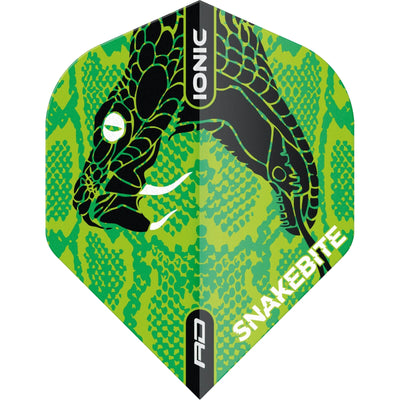 Dart Flights - Red Dragon - Ionic Peter Wright Snake Head - Standard Dart Flights Green