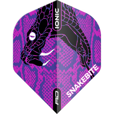 Dart Flights - Red Dragon - Ionic Peter Wright Snake Head - Standard Dart Flights Purple