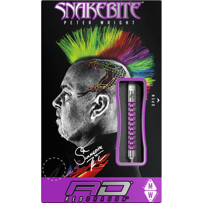 Darts - Red Dragon - Peter Snakebite Wright Vyper Darts - Steel Tip - 90% Tungsten - 20g 22g 24g