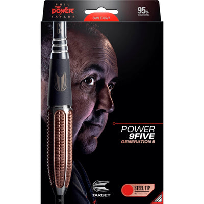 Darts - Target - Phil Taylor Power 9FIVE Gen 5 Darts - Steel Tip - 95% Tungsten - 22g 24g 26g