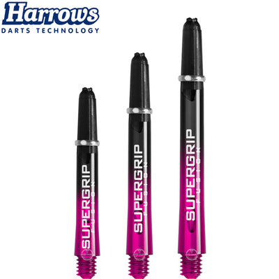 HARROWS Darts - Shafts - Supergrip Fusion-X Shafts - Medium (45mm) / Pink