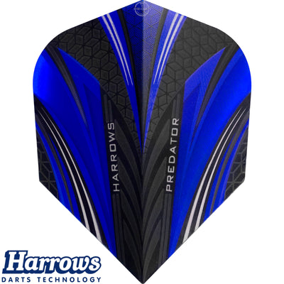 Dart Flights - Harrows - Predator - Standard Dart Flights Blue