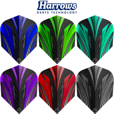 Dart Flights - Harrows - Predator - Standard Dart Flights